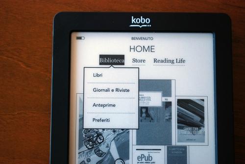 Kobo Touch Biblioteca