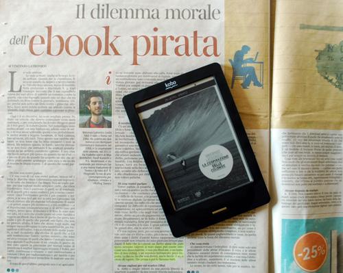 """Articolo di Vincenzo Latronico su """"la Lettura"""" del """"Corriere"""" e il suo ultimo ebook"""