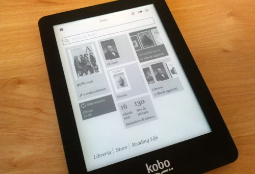 Firmware 2.1.6: un'interfaccia Tapestry per la Home del Kobo Glo