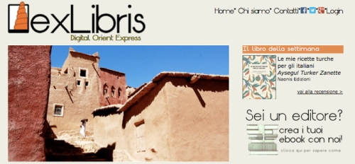 """L'Home Page di exLibris Digital Orient Express"""