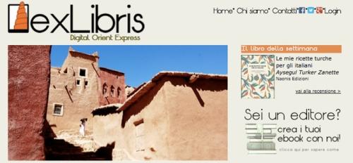 """L'Home Page di exLibris Digital Orient Express"""