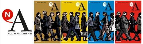 Le copertine dei quattri numeri di Nuovi Argomenti usciti nel 2013