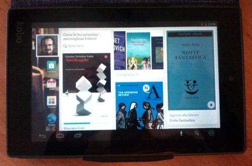"""Libri digitali """"a colori"""" sulla home page del Kobo Arc 7 HD"""